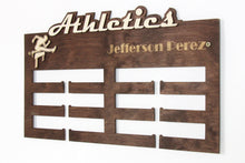 Load image into Gallery viewer, Personalized Atletics Medal hanger Medal display Custom medal holder