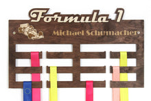 Load image into Gallery viewer, Formula 1 Medal hangers Personalized medal hanger F1 Meday display