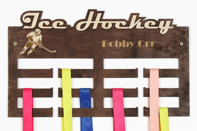 Ice hockey Medal hangers Personalized medal hanger Medal Hockey gifts