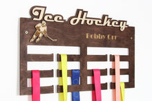 Load image into Gallery viewer, Ice hockey Medal hangers Personalized medal hanger Medal Hockey gifts