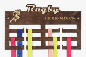 Rugby Medal hangers Personalized medal hanger Medal display Rugby gifts