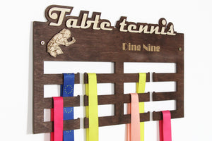 Table tennis medal hangers Tennis gifts Personalized medal hanger Medal display