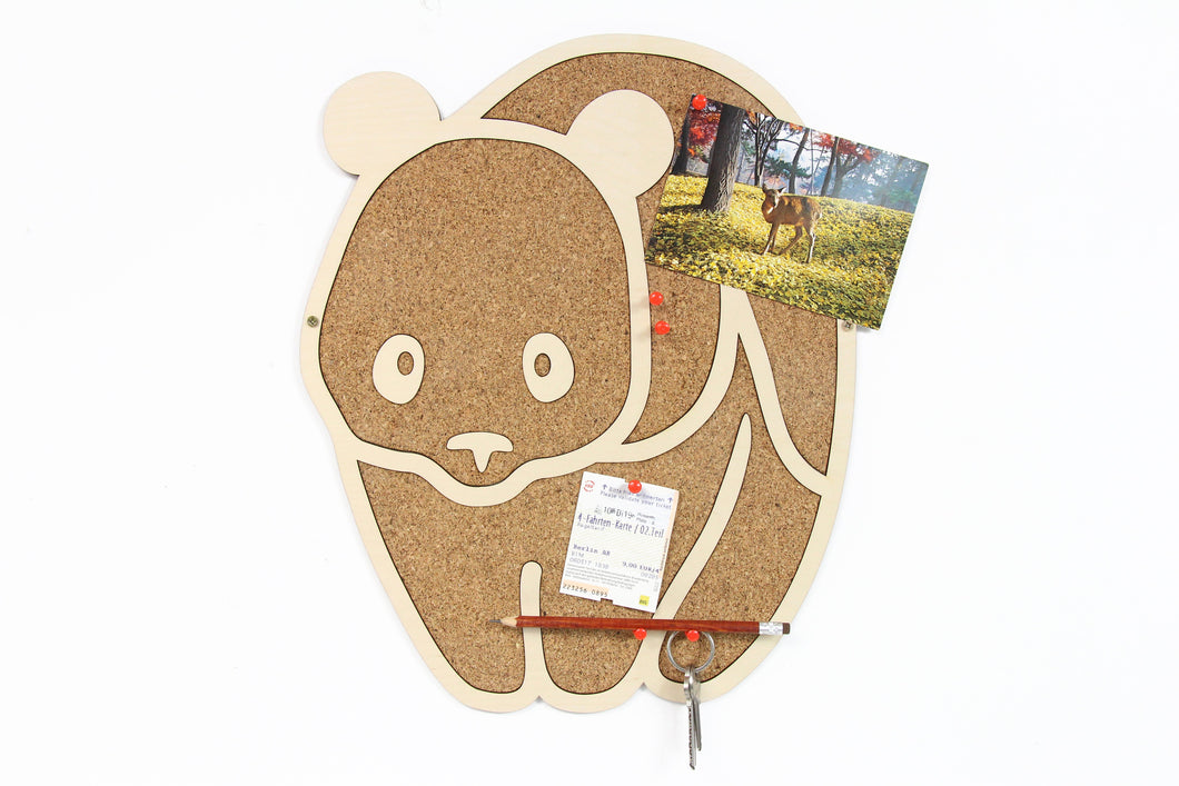 Framed cork board Panda corkboard Panda gifts Pin board Pin display board