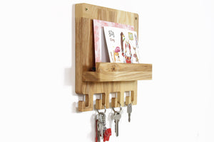 Mail and key holder, Entryway organizer, Wood key holder, Wooden key holder, Mail holder