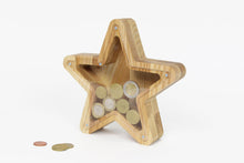 Load image into Gallery viewer, Star shaped piggy bank Money bank for kids Challenge coin display