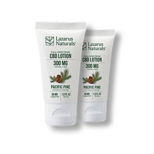 "Lazarus Full Spectrum CBD Lotion ""Pacific Pine"" 2-Pack"