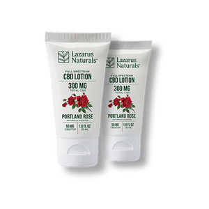 "Lazarus Full Spectrum CBD Lotion ""Portland Rose"" 2-Pack"