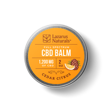 "Load image into Gallery viewer, Lazarus Full Spectrum CBD Balm ""Cedar Citrus"""