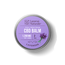 "Load image into Gallery viewer, Lazarus Full Spectrum CBD Balm ""Lavender"""