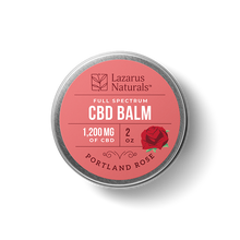 "Load image into Gallery viewer, Lazarus Full Spectrum CBD Balm ""Portland Rose"""