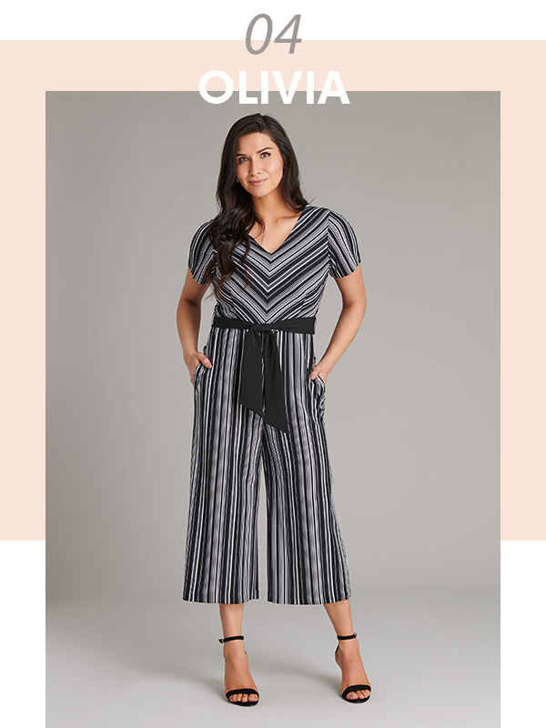 The Olivia Striped Jumpsuit | Connected Appare