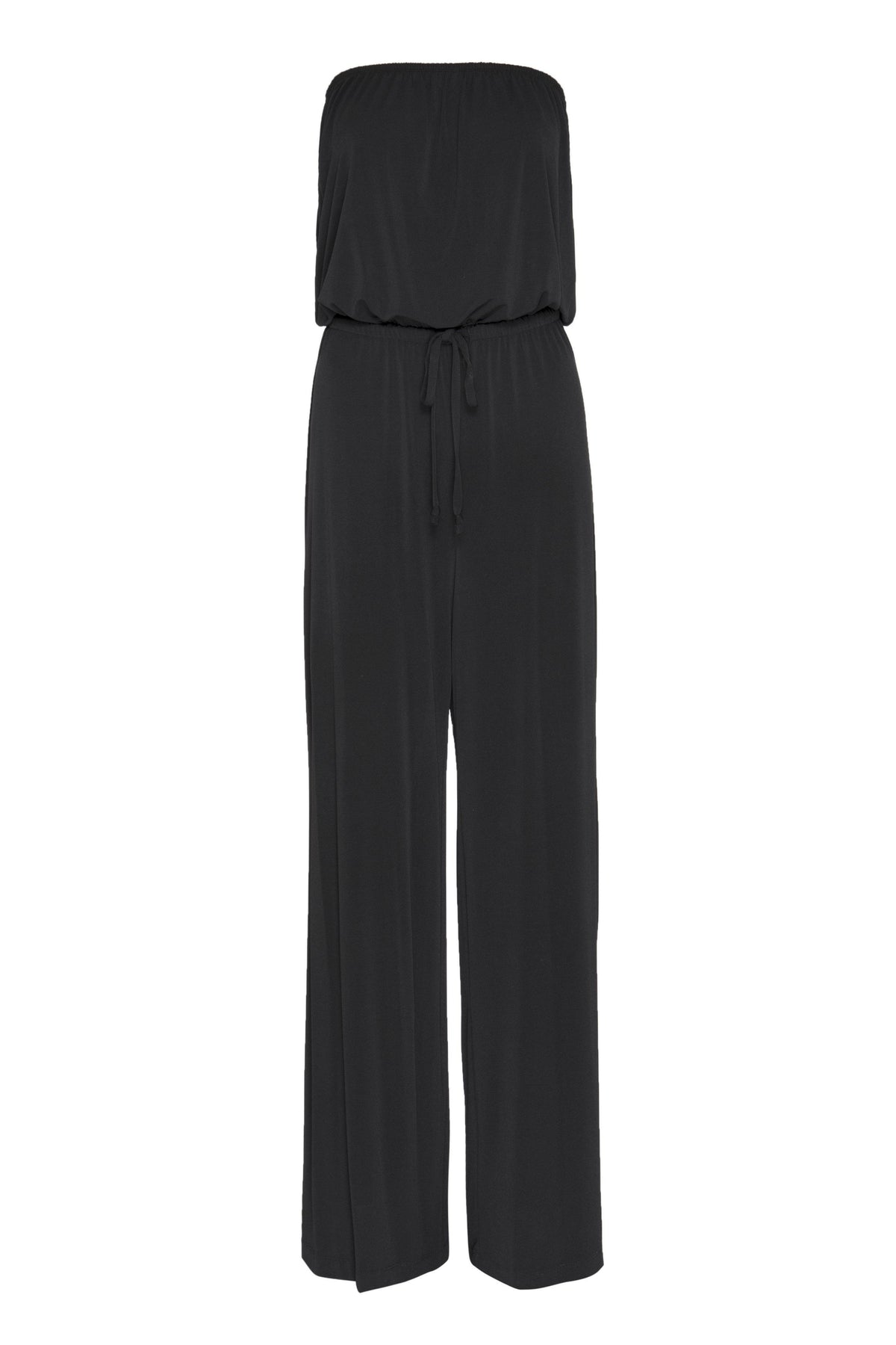 - Melissa Black Strapless Jumpsuit from Connected Apparel on ghost mannequin form