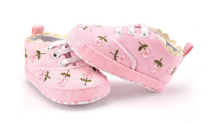 Floral Embroidered Soft Shoes for Babies