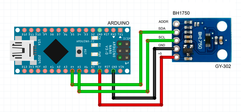 🎇 How to connect the BH1750 lighting sensor to Arduino