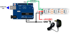 🚥 Arduino and LED address strip WS2812B