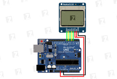 📠 Display Module Nokia5110 Connection to Arduino