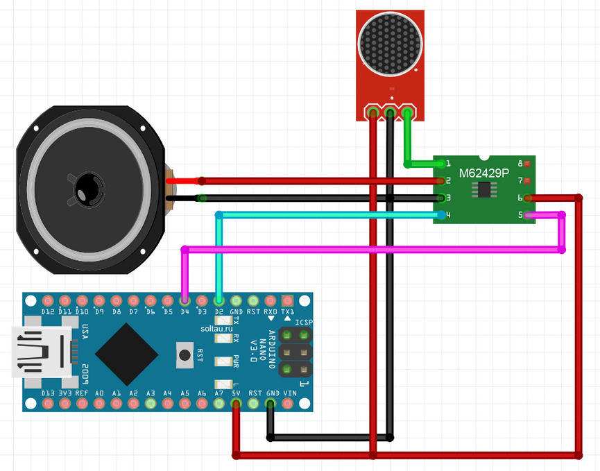 🔊 How to connect the volume controller M62429 to Arduino