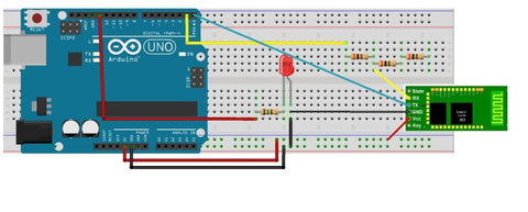 📱 LED control using Arduino, Bluetooth module and Android