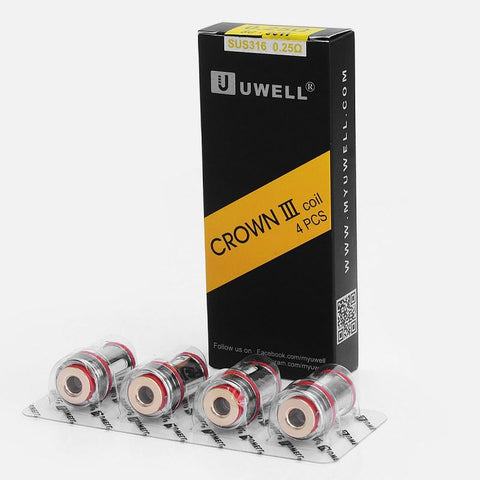 royalvapekitsilano - Uwell Crown 3 Coils SUS316 4/PK - Uwell - accessories