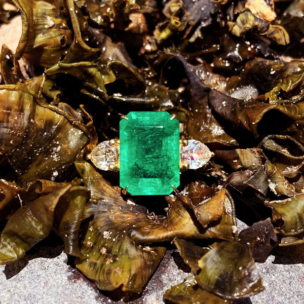 10.50 Carat African Emerald Ring