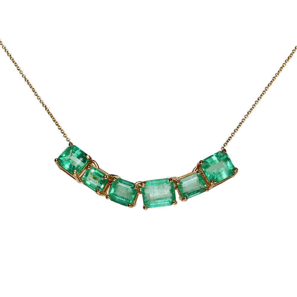 Maria Jose Jewelry 18kt Yellow Gold and Emerald Necklace