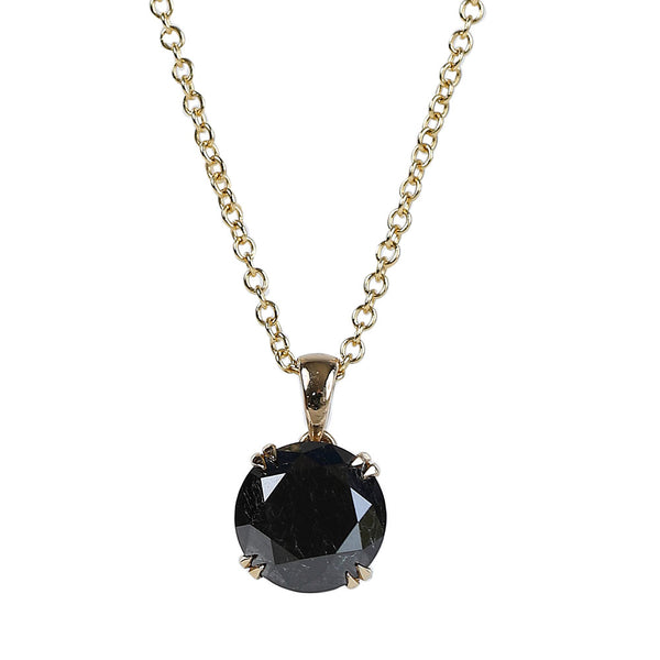 8 Carat Black Diamond Pendant