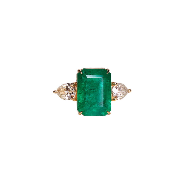 African Emerald Ring