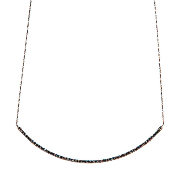 Black Diamond String Necklace