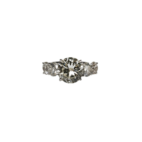 Maria Jose Jewelry Five Diamond Ring Front Angle