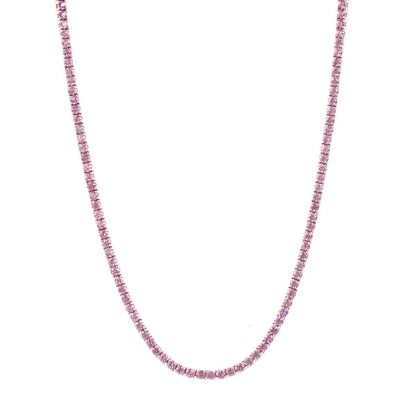 Maria Jose Jewelry Pink Sapphire Riviére Necklace