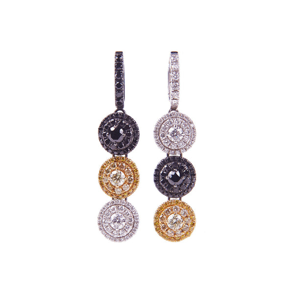 Maria Jose Jewelry Three Color Drop Earrings