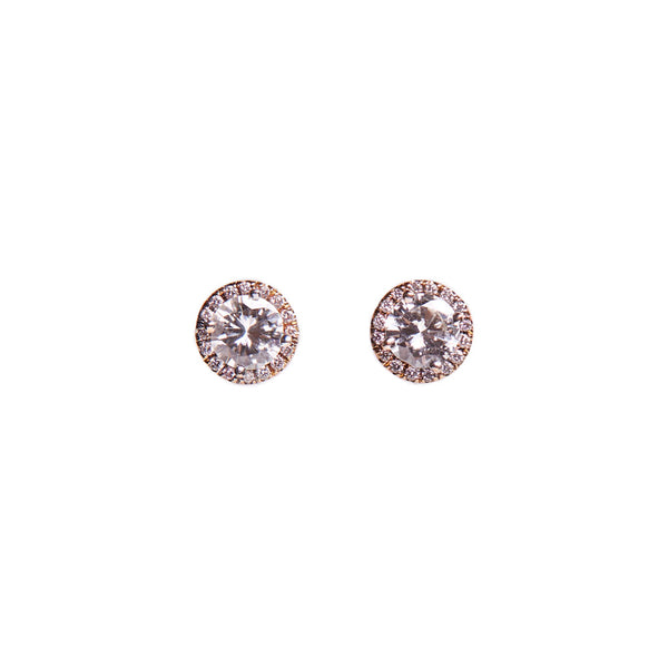 Maria Jose Jewelry White Diamond Stud Earrings