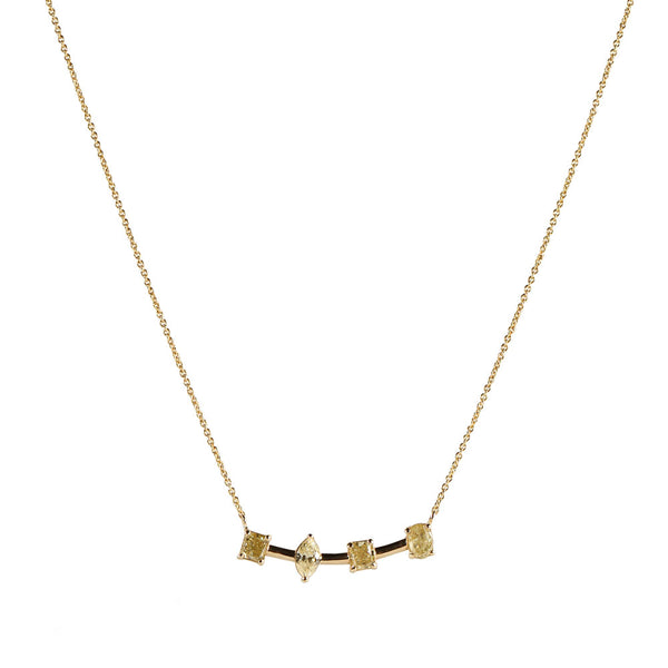 Maria Jose Yellow Diamond Fancy Cut Necklace Detail