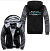 Miami Dolphins Printing Pattern Thicken Fleece Zipper Grey Hoodies Jacket