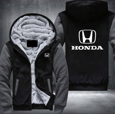 Honda Printing Pattern Thicken Fleece Zipper Hoodies Jacket