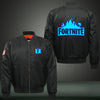 Fortnite blue Print Thicken Long Sleeve Bomber Jacket