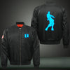 fortnite dance Print Thicken Long Sleeve Bomber Jacket