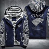 STARK Winter is coming game of thrones Printing Pattern Thicken Fleece Zipper Blue Camo Hoodies Jacket