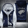 STARK Winter is coming game of thrones Printing Pattern Thicken Fleece Zipper Blue Hoodies Jacket
