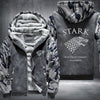 STARK Winter is coming game of thrones Printing Pattern Thicken Fleece Zipper Grey Camo Hoodies Jacket