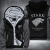 STARK Winter is coming game of thrones Printing Pattern Thicken Fleece Zipper Grey Hoodies Jacket