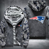 New England Patariots Printing Pattern Thicken Fleece Zipper Grey Camo Hoodies Jacket