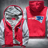 New England Patariots Printing Pattern Thicken Fleece Zipper Red Grey Hoodies Jacket
