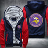 Minnesota Vikings Printing Pattern Thicken Fleece Zipper Red Hoodies Jacket