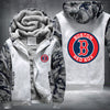 Boston Red Sox Printing Pattern Thicken Fleece Zipper White Camo Hoodies Jacket