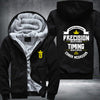 Conor Mcgregor timing beats speed Printing Pattern Thicken Fleece Zipper Black Hoodies Jacket