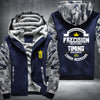 Conor Mcgregor timing beats speed Printing Pattern Thicken Fleece Zipper Blue Camo Hoodies Jacket