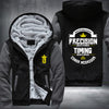 Conor Mcgregor timing beats speed Printing Pattern Thicken Fleece Zipper Grey Hoodies Jacket