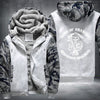 Son of Anarchy Redwood Original Printing Pattern Thicken Fleece Zipper White Camo Hoodies Jacket