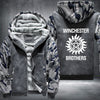 Winchester Brothers Printing Pattern Thicken Fleece Zipper Grey Camo Hoodieas Jacket